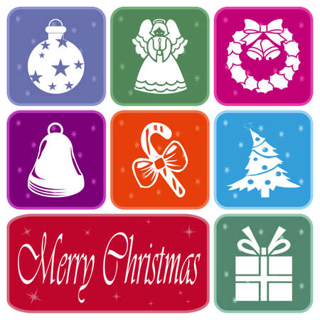 Colorful Christmas greeting card Stock Photo