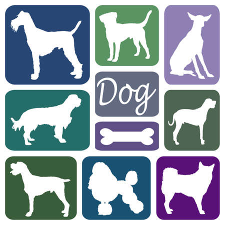 Wallpaper with dog silhouettes