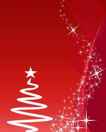 Christmas greeting card on red background