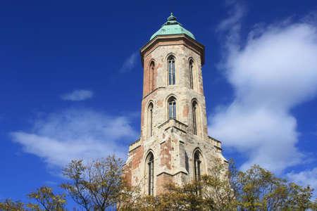 magdalena: Detail of Maria Magdalena church in Budapest, Hungary