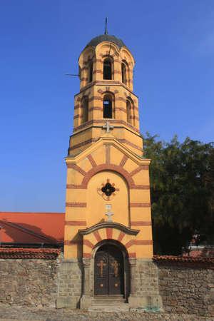 Clock tower of Sveta Nedelya church in Plovdiv, Bulgaria