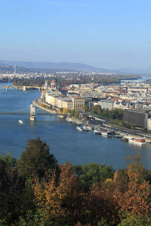 View of Budapest with the river Danube, Hungary