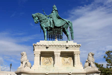 Statue of King Saint Stephen I , in Budapest, Hungary