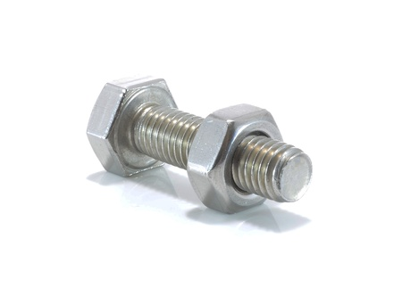 Stainless steel bolt and nut photo