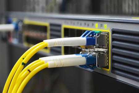 fibra óptica: fibra óptica Foto de archivo