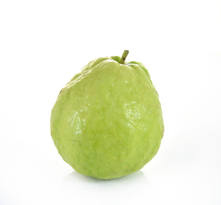 Guava  tropical fruit  on white background 스톡 콘텐츠