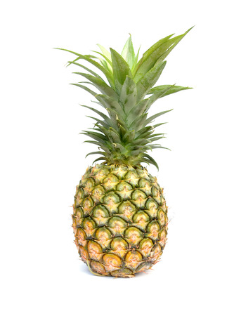 ripe pineapple isolated on white background photo
