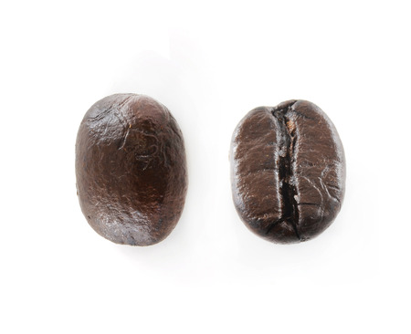 coffeetree: Coffee Beans isolated on white. Stock Photo