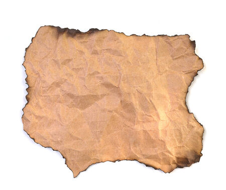 burnt paper: blank grunge burnt paper with dark adust borders Stock Photo