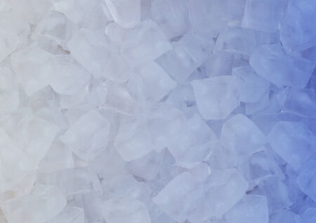 crushed ice in front of white background photo