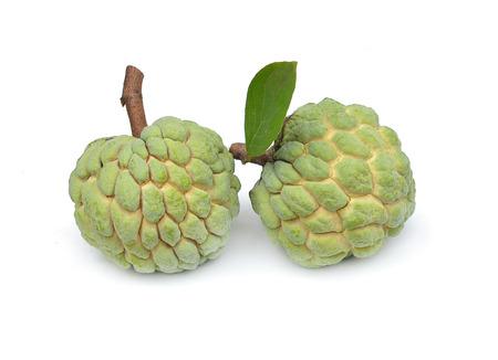custard apple fruit: Custard apple fruit with white isolate background