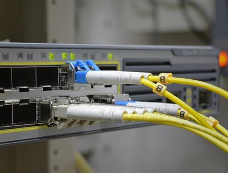 fibre optique: Fibre optique  Banque d'images