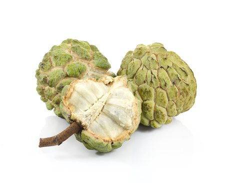 annona: Custard apple isolated on white background,annona