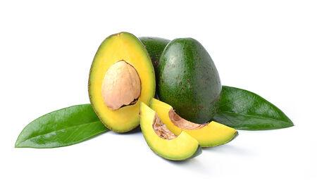Avocados on a white background photo