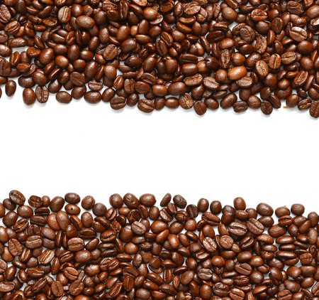 colombian food: coffee beans isolated
