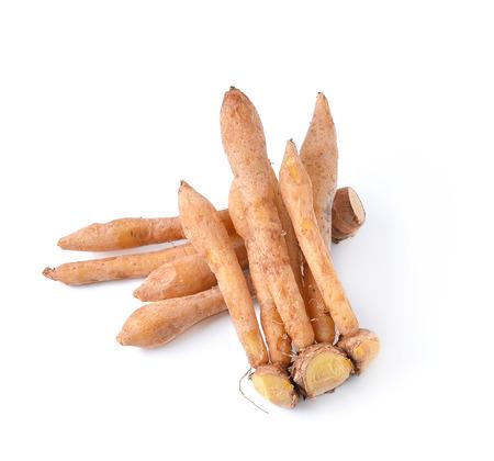finger root Ingredients for Thai Cuisine isolate on white Stock Photo