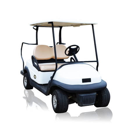 白い背景に分離されたゴルフ カート golfcart 写真素材