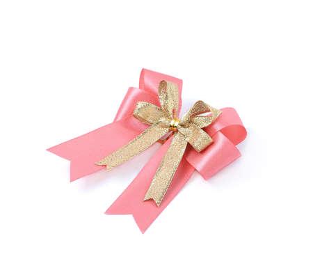 lazo rosa: lazo rosa sobre fondo blanco