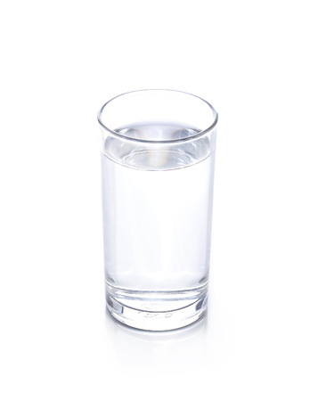 glass of water isolated on white 스톡 콘텐츠
