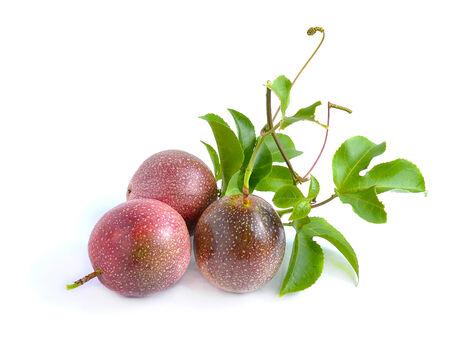 Passion fruit isolated on white background photo