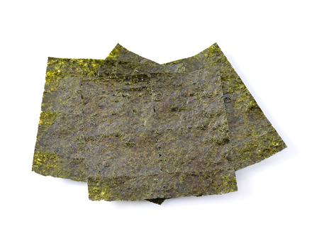 seaweed on white background