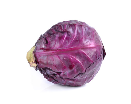red cabbage: Red cabbage isolated over a white background.