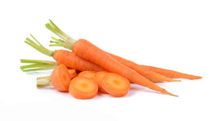 Carrot isolated on white background Stok Fotoğraf