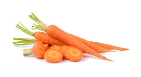 zanahorias: Zanahoria aislado sobre fondo blanco