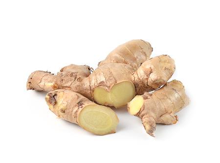ginger plant: ginger on a white background