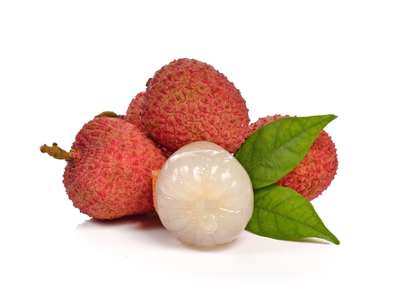lichi: Litchi isolated on the white background.