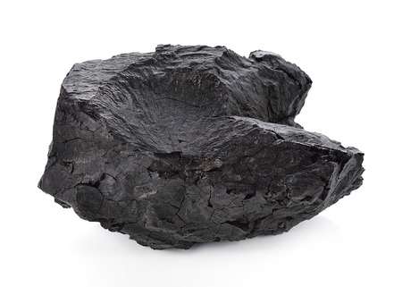 Coal on Isolated White Background 스톡 콘텐츠