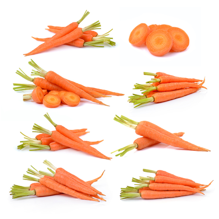 Carrot isolated on white background 스톡 콘텐츠