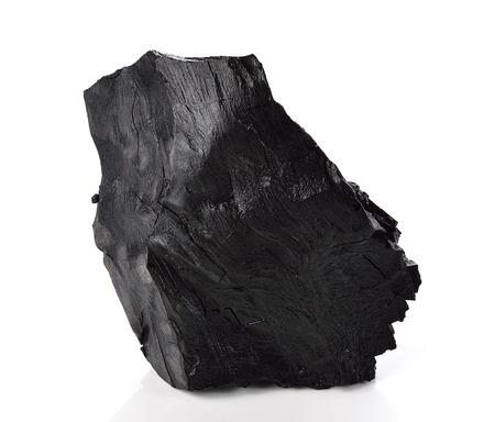 Coal on Isolated White Background 版權商用圖片