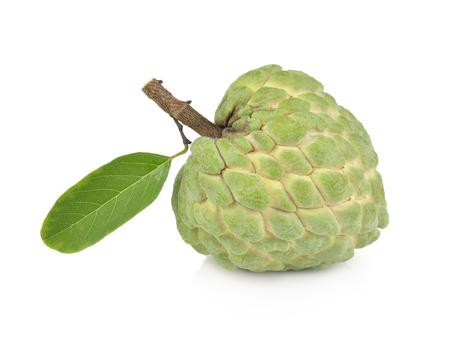 annona: Custard apple isolated on white background,annona
