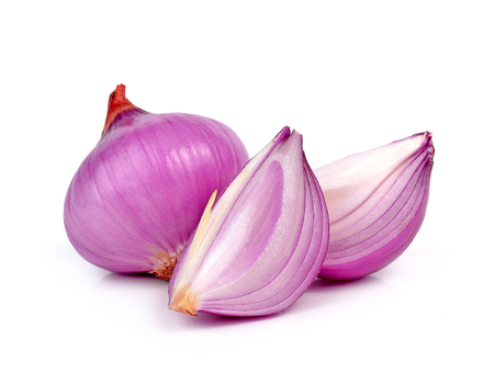 shallots isolated on white background 스톡 콘텐츠