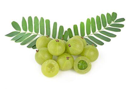 formulation: gooseberries on white background