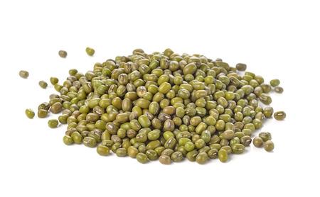 Mung beans isolated on white background 版權商用圖片