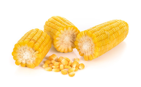 corn: corn isolated on white background.