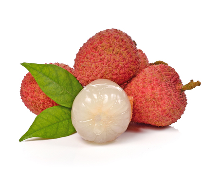 litchi: Litchi isolated on the white background.