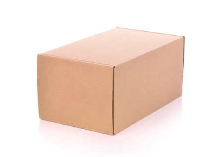 corrugated box: box on white background