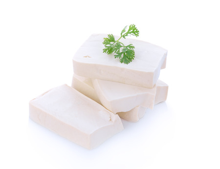cube tofu isolated on white 스톡 콘텐츠