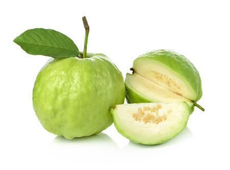 Guava on white background Standard-Bild