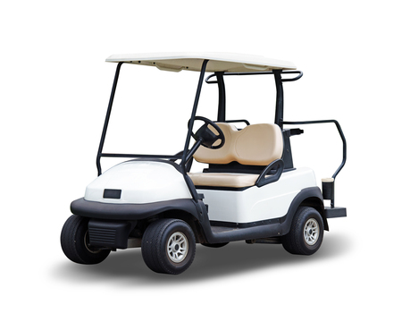 cart: Golf cart golfcart isolated on white background