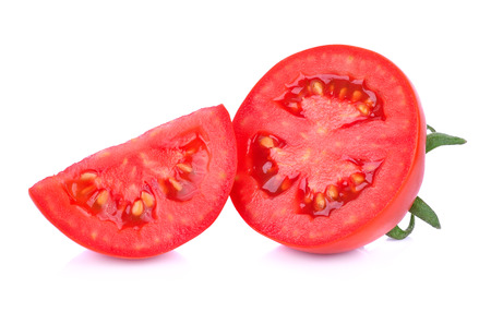 tomato slice: tomato slice isolated on white background Stock Photo