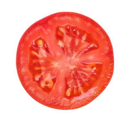 tomato slice isolated on white background Stockfoto