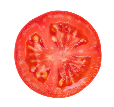 tomato slice isolated on white background 免版税图像
