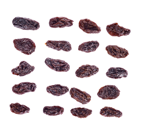 Dried raisins   isolated on white background