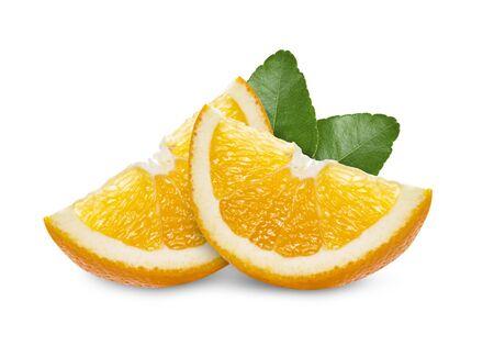 orange slice on white background Banque d'images