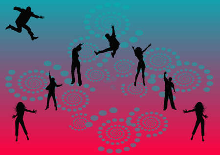 tonight: lets have fun tonight party illustration on hot pink background