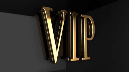 vip area: VIP high gloss Stock Photo